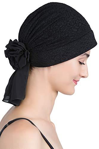 Deresina Headwear Deresina Brokat Kopftuch Mit Georgette fur Haarverlust (Navy)