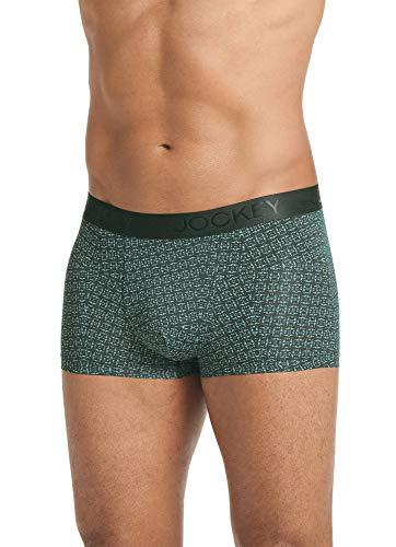 Jockey Men's Underwear Lightweight Travel Microfiber Trunk, Thyme, M