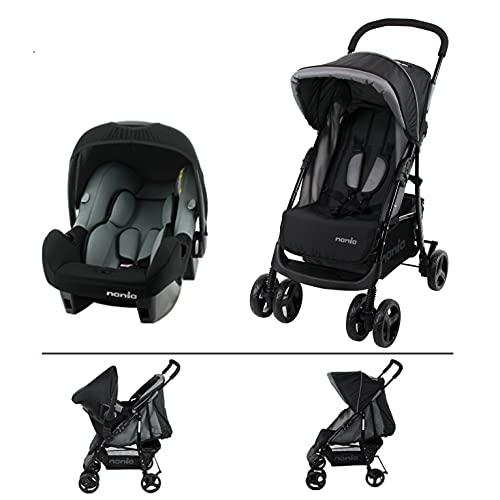Poussette TEXAS pour les enfants de 6 à 36 mois - Avec position allongée + Siège auto BEONE Grp 0+ (0-13Kg) (Poussette combinée)