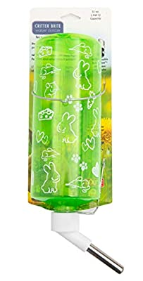 Lixit Critter Bright Water Bottles for Hamsters, Rabbits, Chinchillas, Ferrets, Guinea Pigs and Other Small Animals. (32 Ounce Pack of 1, Assorted) from Lixit