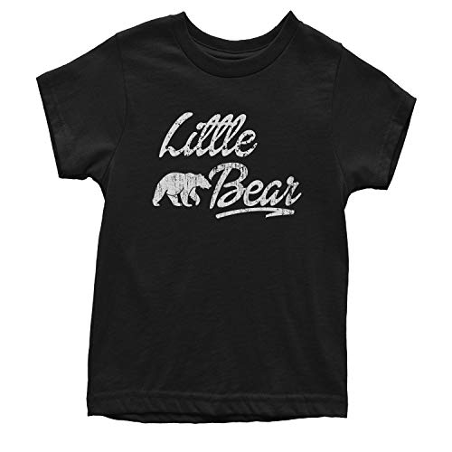 Expression Tees Youth Little Bear T-Shirt X-Small Black