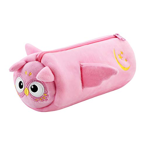 SuperStyle Cute Pencil Case Pencil Pouch for Girls Soft Plush Pencil Pouch Girls Cosmetic Pouch Bag Stationery Organizer Zipper Pouch Pencil Holder Bag School Office Accessories for Teens Kids