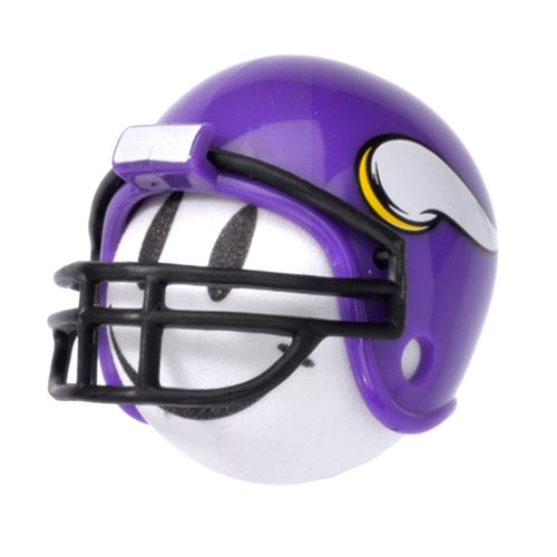 Vikings Football Team Fan Helmet Head Car Antenna Ball/Auto Mirror Dangler/Desktop Spring Stand Bobble Buddy + Happy Face Antenna Ball (Car Accessory)