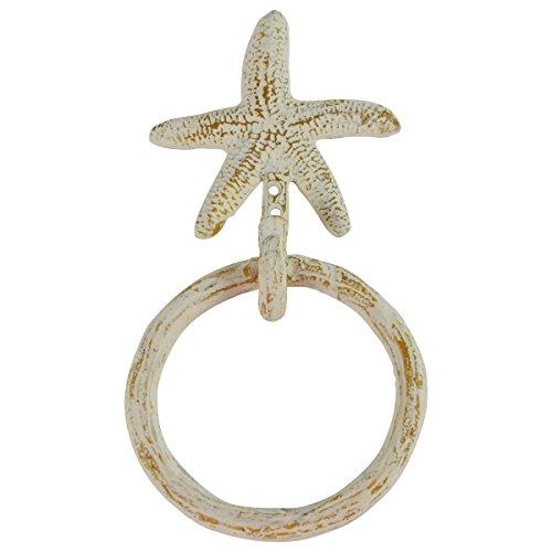 Treasure Gurus Wall Mount Starfish Kitchen/Bath Towel Ring Holder Hanger Hook Nautical Decor