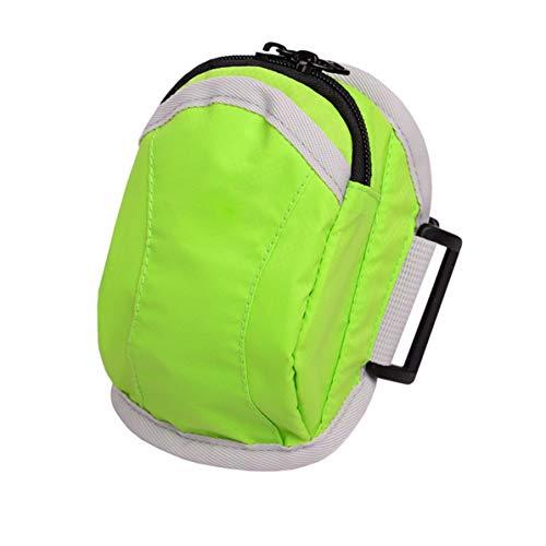 Running Sport Gym Keys Pouch Arm Wrist Bag Funda para iPhone 6 5S 5C 5 4S 4 Exquisitamente diseñado Duradero Precioso - Verde