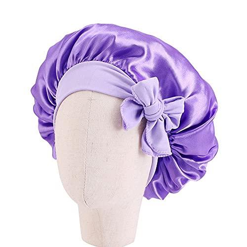 NC 1 Pcs Enfant Bonnet De Sommeil Réglable Sommeil Bonnets De Nuit pour Enfants Large Bande Élastique Chapeaux De Sommeil Head Wrap Bonnet Bonnet De Sommeil pour Cheveux