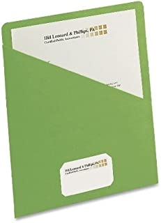 Smead Organized Up Slash File Jacket, Letter Size, Green, 25 per Pack (75432)