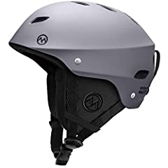 ASTM CERTIFIED SAFETY - Ski helmet built for both comfort and safety. Equipped with REINFORCED ABS SHELL & SHOCK-ABSORBING EPS CORE. CHOOSE BETWEEN 9 DIFFERENT COLOR OPTIONS - Sleek design available in 9 different color combinations for you to choose...
