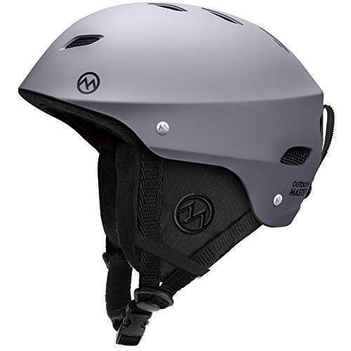 OutdoorMaster Ski Helmet - with ASTM Certified Safety, 9 Options - for Men, Women & Youth (Gray,L)