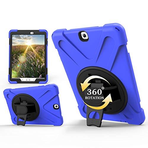 Caja protectora de la tableta Serie del pirata de tres-en-uno resistente a los golpes de Shell for Samsung TabS2 9.7' T810 / T813 / T815 / T819C, Gota a prueba, a prueba de polvo, 360 grados de rotaci