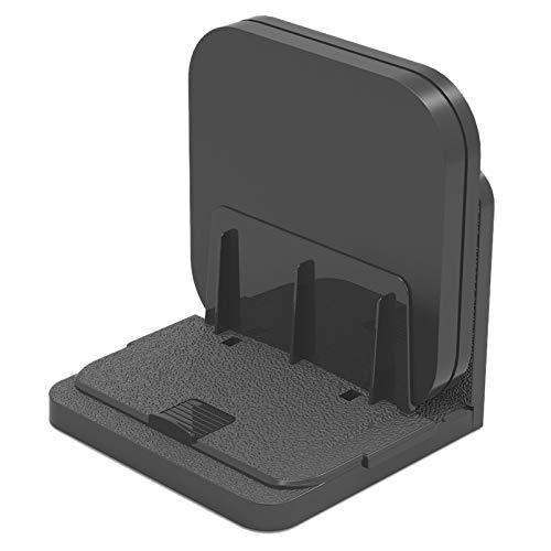 Shumo - Soporte de pared para dispositivos pequeños, universal, ajustable, para Android TV Box Cable, reproductores de medios digitales, módems Router Streaming Media Devices (negro)