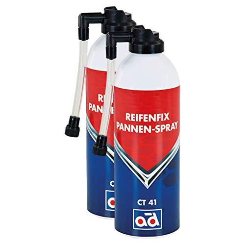 AD Chemie 2X Reifenfix Dichtmittel Ct 41 400ml Spraydose Reifenpanne Reifen Schlauch Pannenspray Pkw Spray Reparatur Reifendichtmittel Pannenset Gel 402132740