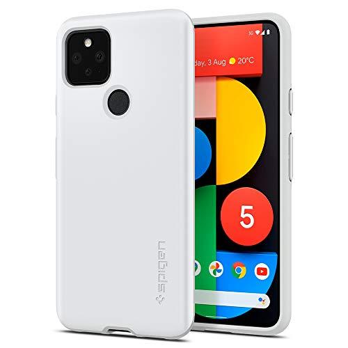 Spigen Thin Fit Hülle Kompatibel mit Google Pixel 5 -Weiß