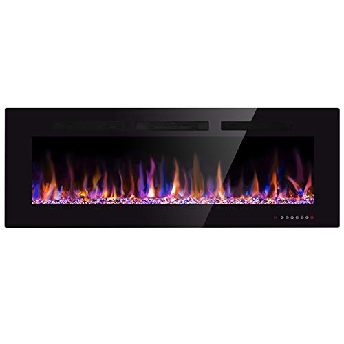 Xbeauty 60' Electric Fireplace in-Wall Recessed...