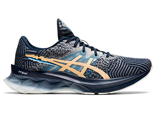 ASICS Women's Novablast Running Shoes, 11.5M, French Blue/Champagne