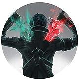 Sword Art Online Area Rugs Manta Circular Geometría Moderna Alfombra Redonda Lavable Antideslizante Silla Estera Sala Dormitorio Esteras