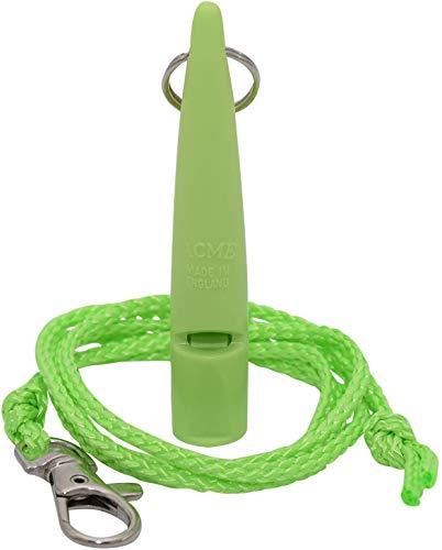 acme Hundepfeife No. 211,5 + GRATIS Pfeifenband | Original aus England | Ideal für die Hundeausbildung | Robustes Material | Genormte Frequenz | Laut und weitreichend (Lime Green)