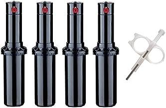 Hunter PGP-adj Rotor Sprinkler Heads – 4 Pack – Includes Adjustment Tool