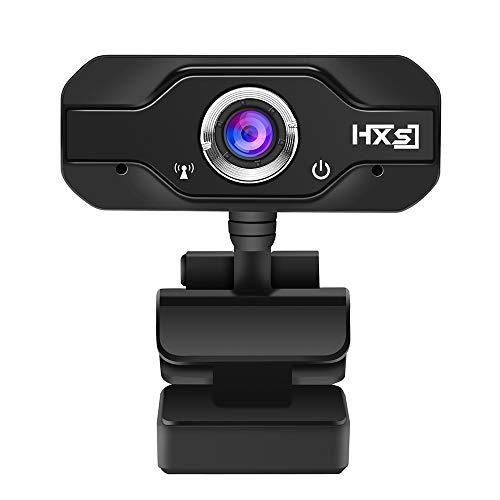 docooler HXSJ Webcam HD con Microfono 1080P 720P Videocamera Web per videochiamate High-End a Fuoco Fisso Nero