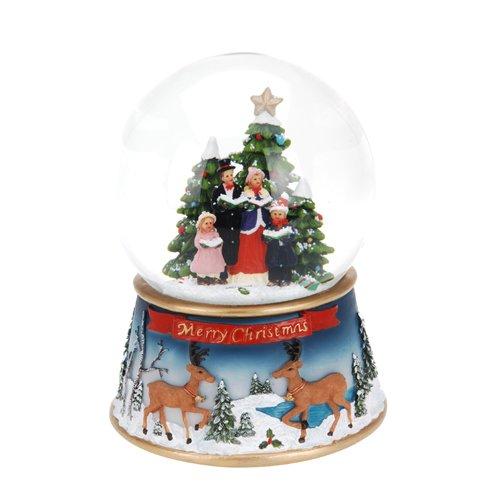 Viscio Trading Maison & Christmas Boule Eau Père Noël avec Musique LED Mouvement, Multicolore, 19 x 19 x 24 cm