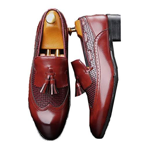 Mocasines borlas Cuero Hombres Zapatos Casuales Retro