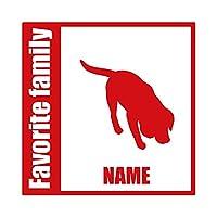 ForzaGroup 全犬種 全猫種対応 ビーグル6 (134-80) 犬 イヌ 車 ステッカー 名前入れ
