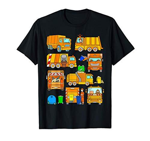 Camión de Basura Camiones Coche Naranja Gigante Niños Camion Camiseta