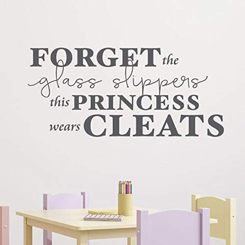 Wall Quotes This Princess Wears Cleats Decal Sport...