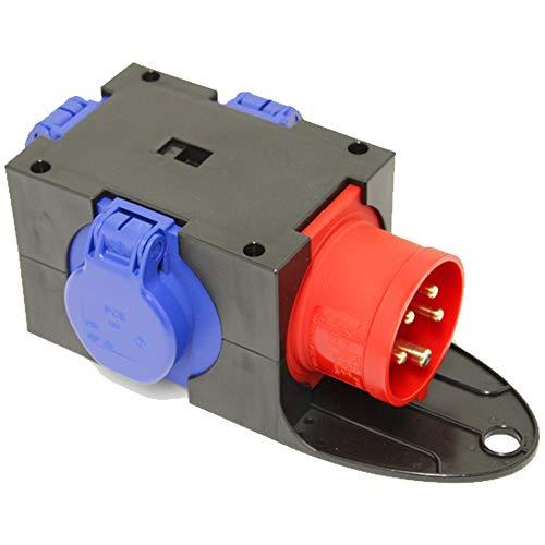 CEE Adapter Stromverteiler CEE 16A 400V - 3 x 230V Kraftstrom Baustrom Verteiler