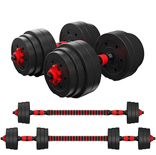 Zoogamo Adjustable Dumbbells Set Weight to 88Lbs, Free Weight with Connecting Rod Used As Barbell, for Men and Women Home Gym Work Out Training Fitness Equipment All-Purpose