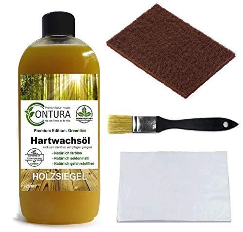 Contura Premium Hartwachsöl SET Holzpflegeöl Hartwachs Holzpflege Holzöl Tisch Arbeitsplatten Möbelöl Holzschutz nachölen auffrischen pflegen Holzpflegeset Pflegemittel