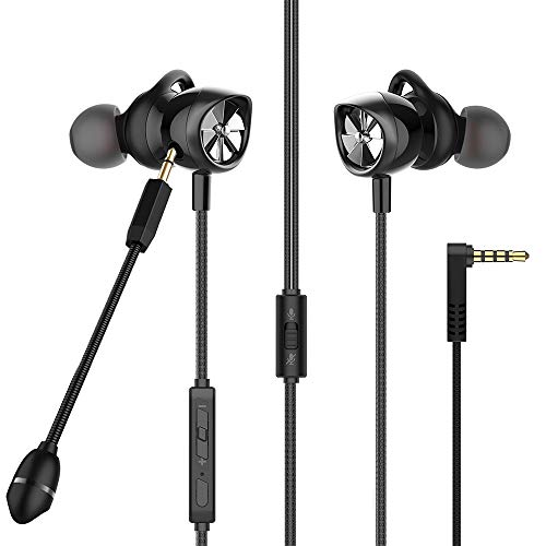 Earbuds with Microphone in Ear Gaming Earbuds Stereo HiFi Surround &...