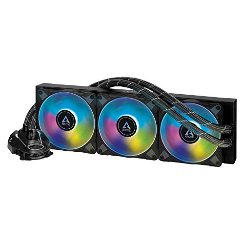 ARCTIC Liquid Freezer II 360 A-RGB - Disipador líquido All-in-One para CPU con A-RGB, Compatible con Intel y AMD, pompa eficiente controlada por PWM, Velocidad del Ventilador: 200-1800 RPM - N