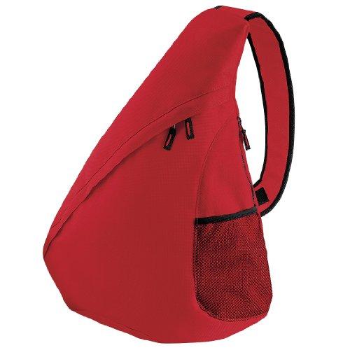 Bagbase - Zaino Sportivo Monospalla (12L) (Taglia unica) (Rosso)