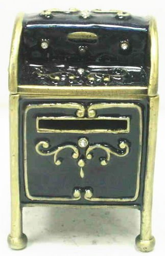 Sprinkles Gifts Welforth Mail Box Stamp Holder Crystal Enamel refillable collectible empty figurine
