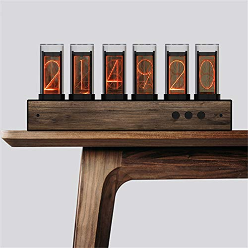 KKTECT Tube Clock Reloj Digital LED con un Cable USB DIY Nixie Tube Clock Simulation, Regalo para Estudiantes, Amigos (Negro)