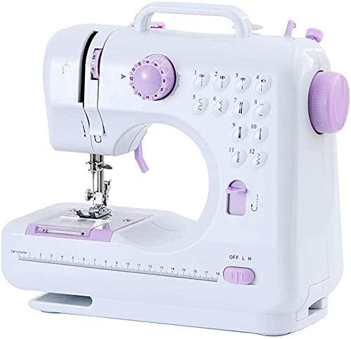 Máquina de coser para principiantes Máquina de costura portátil Básica fácil de usar para adultos y niños 2 velocidades Máquina de coser de mano doble multifunción Doble con pedal de pieBeautiful