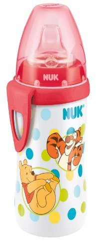 NUK Winnie the Pooh Active Cup with Silicone Spout (300ml, Red) by NUK