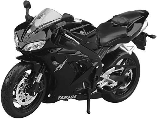 YELVQI 1:12 Modelo de la Motocicleta Yamaha YZF-R1 Carretera Locomotora de simulación de aleación de fundición a presión de Joyas de Juguete 17x10cm joyería Colección del Coche Deportivo