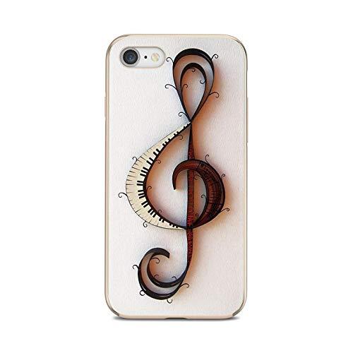 Notas musicales violín música clásica suave cubierta para Huawei P8 P9 P10 P20 P30 P Smart 2019 Honor Mate 9 10 20 8X 7A 7C Pro Lite-images 3-For P8 Lite 2016