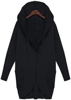 LUKEEXIN 2019 Autumn Coat Women Woolen Coats Pocket Long Sleeve Hooded Women Overcoat Cotton Blend Jacket Cardigans Plus Size