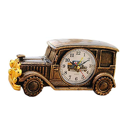 Hinleise Reloj Despertador de Coche clásico Retro para decoración del hogar Suministros para niños Tendencia decoración del hogar, Manualidades, 18,6 x 7,1 x 7,6 cm – # D – 1 Unidad