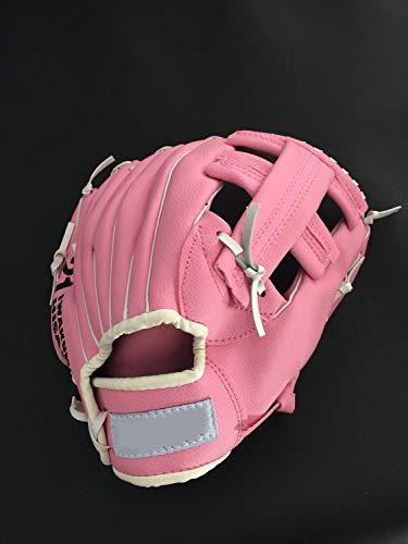 PU-Leder-Handschuhe Sport-Handschuhe Linkshänder Fang Frau Jugend-Baseball-Batting Handschuhe rosa 11 Zoll (Size : 11inch)