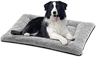 SIWA MARY Dog Bed Mat Soft Crate Pad Washable Anti-Slip Mattress for Large Medium Small Dogs and Cats Kennel Pad (36inch,Grey)