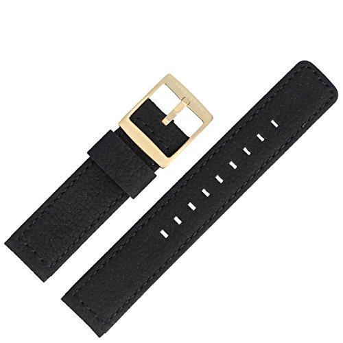 Liebeskind Uhrenarmband 20 mm Leder Schwarz Nubuk - Uhrband B_LT-0016-LQ