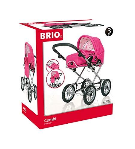 BRIO 24891309 Puppenwagen Combi, Fuchsia