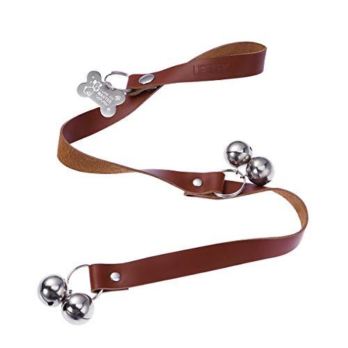 UEETEK Hund Türklingeln Einstellbare Leder Ausbildung Töpfchen Glocken für Housetraining Dosg Toilettentraining Glocke Interaktion Glocke
