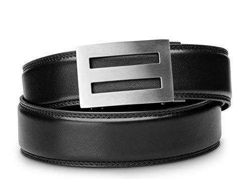 "KORE Men's Full-Grain Leather Track Belts | ""Intrepid"" Stainless Steel Buckle"