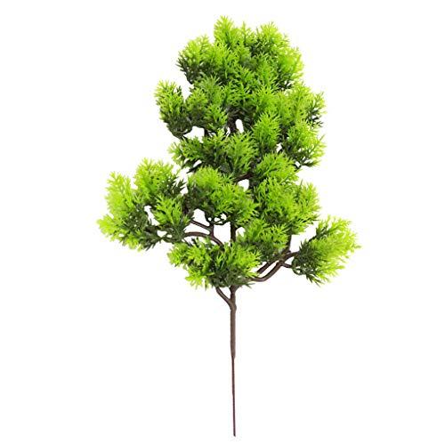 Qinghengyong Künstliche Kiefer Zweig Simulation Nadel Blätter Zweig Home Office künstlicher Baumzweig Gefälschte Pflanzendekor, Dunkelgrün dunkelgrün