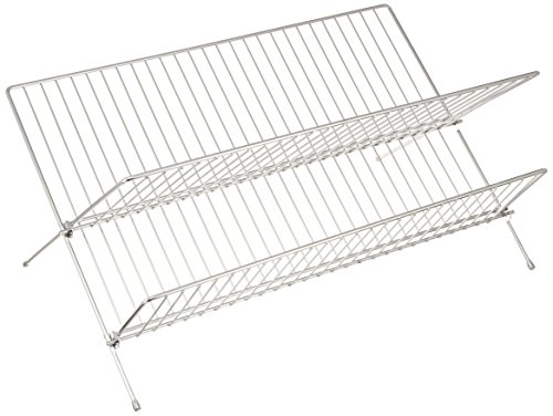 Wenko Escurreplatos Dúo Escurridor, Metal Cromado, Plata Brillante, 25x47x27 cm